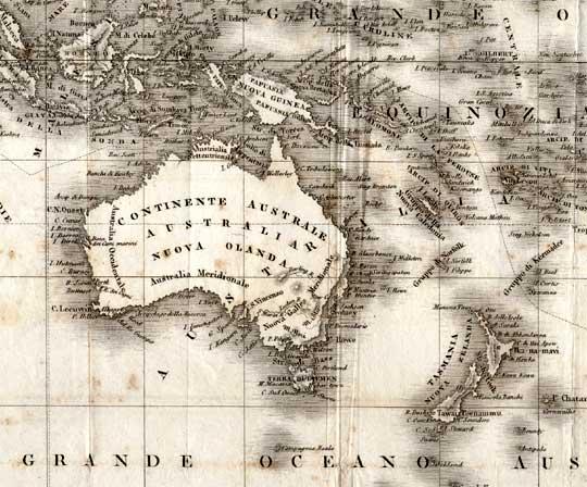 antica mappa Australia